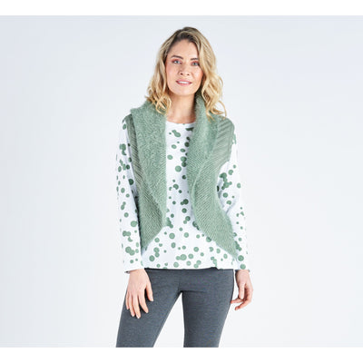 Vivid Soft Knit Vest in Sage