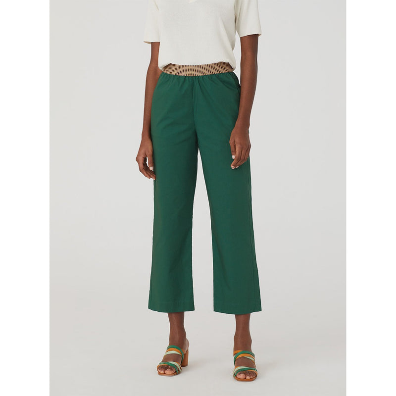 Nice Things Pants Fancy Elastic in Medium Green