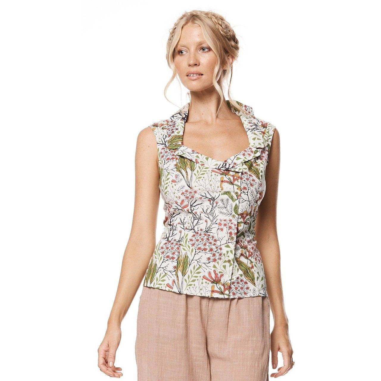 MahaShe Kasha Top in Freesia Print