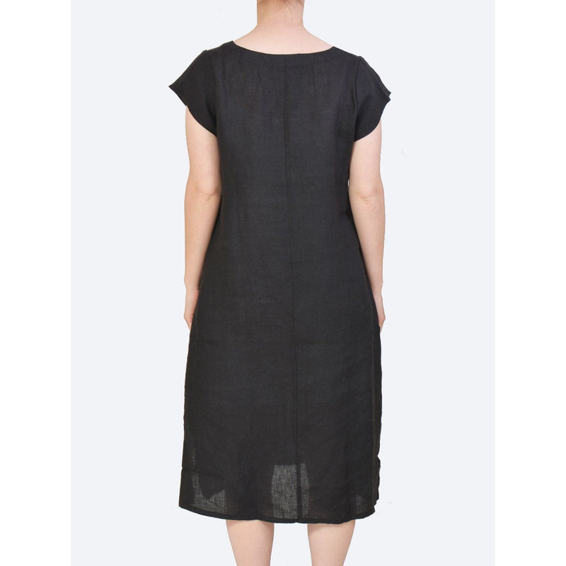 CAKE Elena Linen Dress in Black