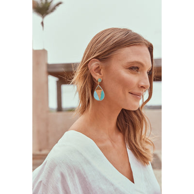 eb&ive Society Bead Earring in Turquoise