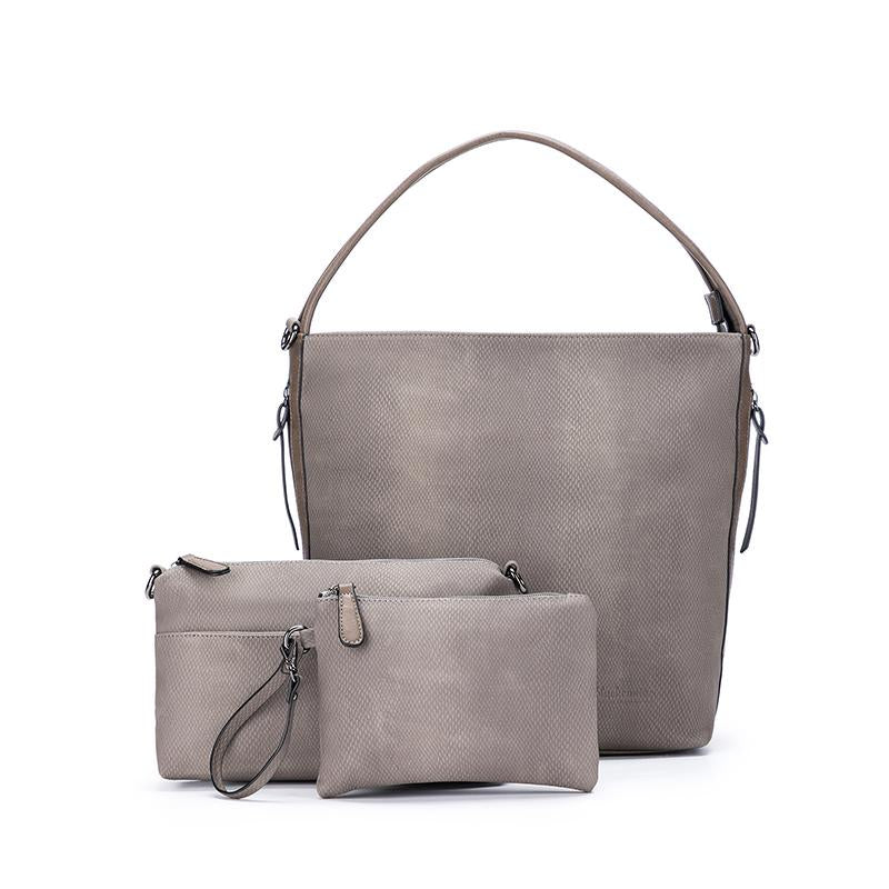 Black Caviar Dakota Bag in Dark Taupe