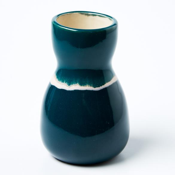 Jones & Co Saturday Vase in Green Ink