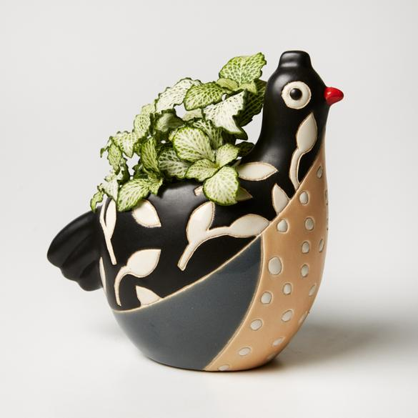 Jones & Co Birdie Planter in Black