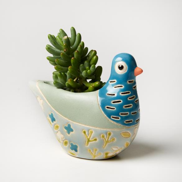 Jones & Co Bonita Planter in Blue