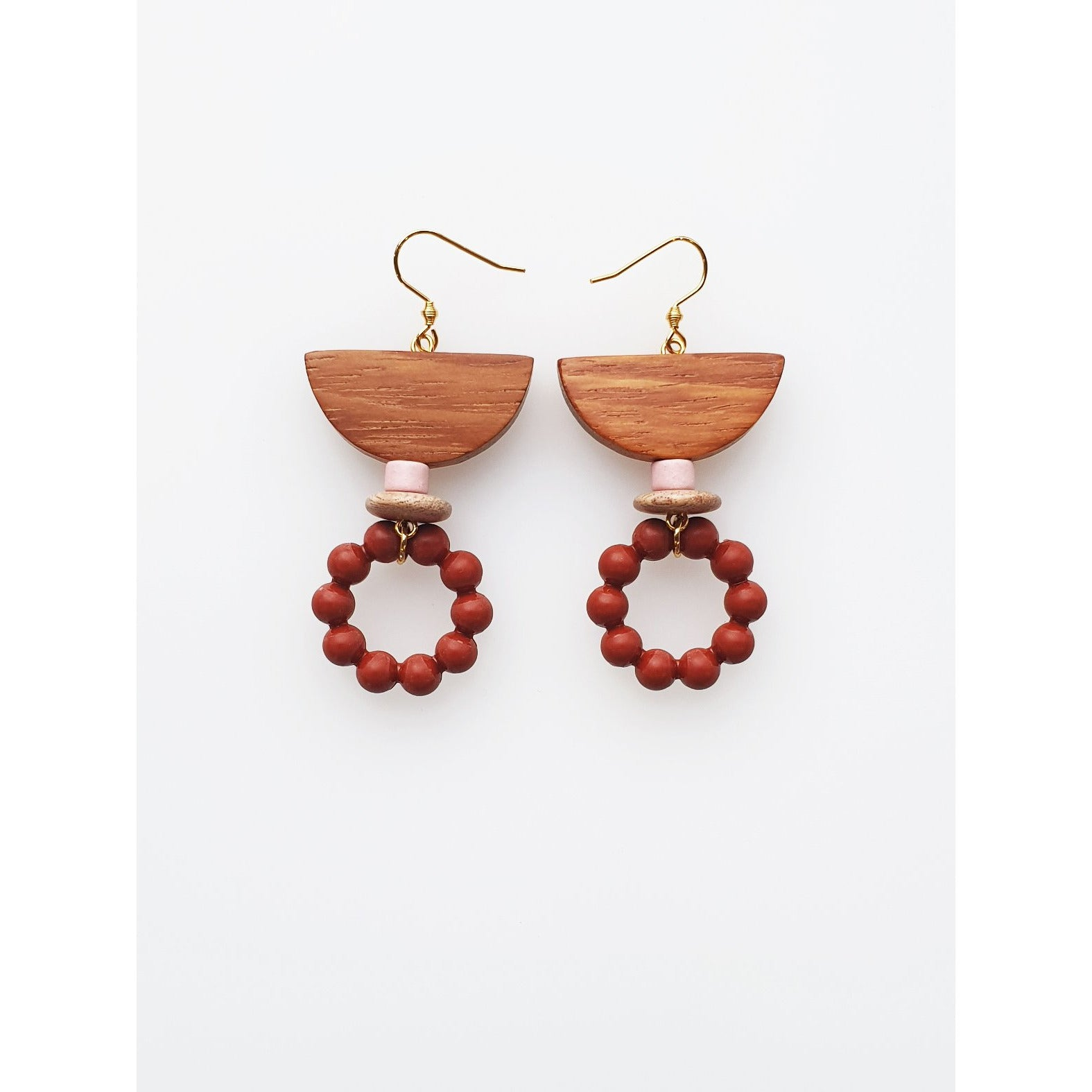 Middle Child Jewellery Garland Earrings in Red