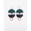 Middle Child Jewellery Helm Earrings in Green