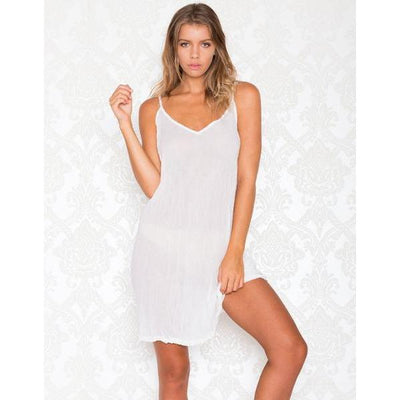 Lula Soul Ibiza Cotton Slip in White
