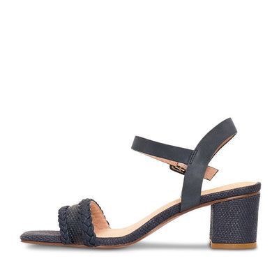 Nude Footwear Jezebel Navy Raffia Sandals