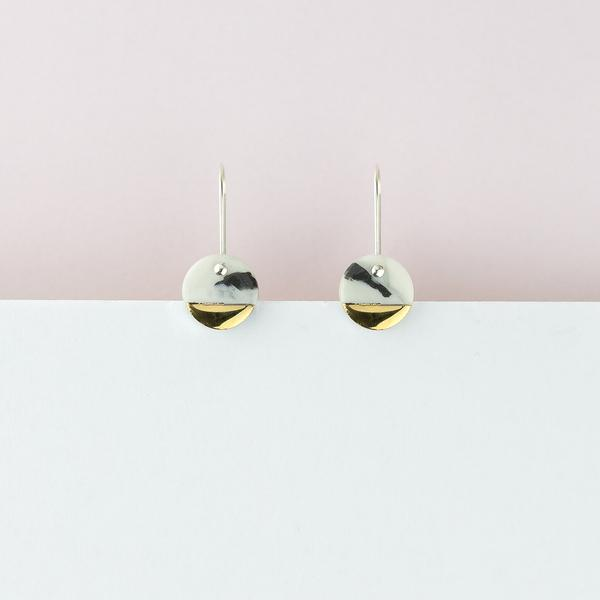 Erin Lightfoot Spot Earrings in Marble Spot