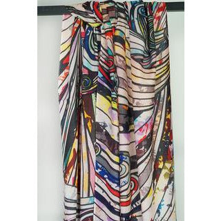 Tradition Textiles 100% Merino Wool Rainbow Swirls Scarf