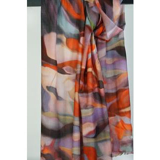Tradition Textiles 100% Merino Wool Flames Scarf