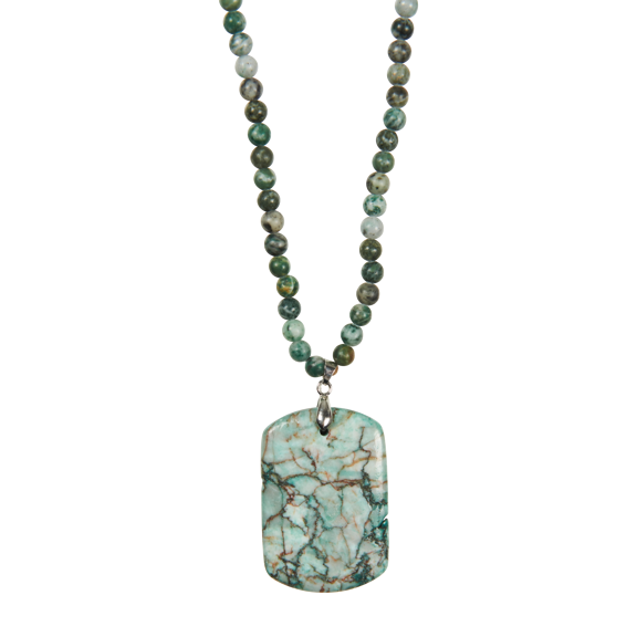 eb&ive Mwana Stone Necklace in Teal