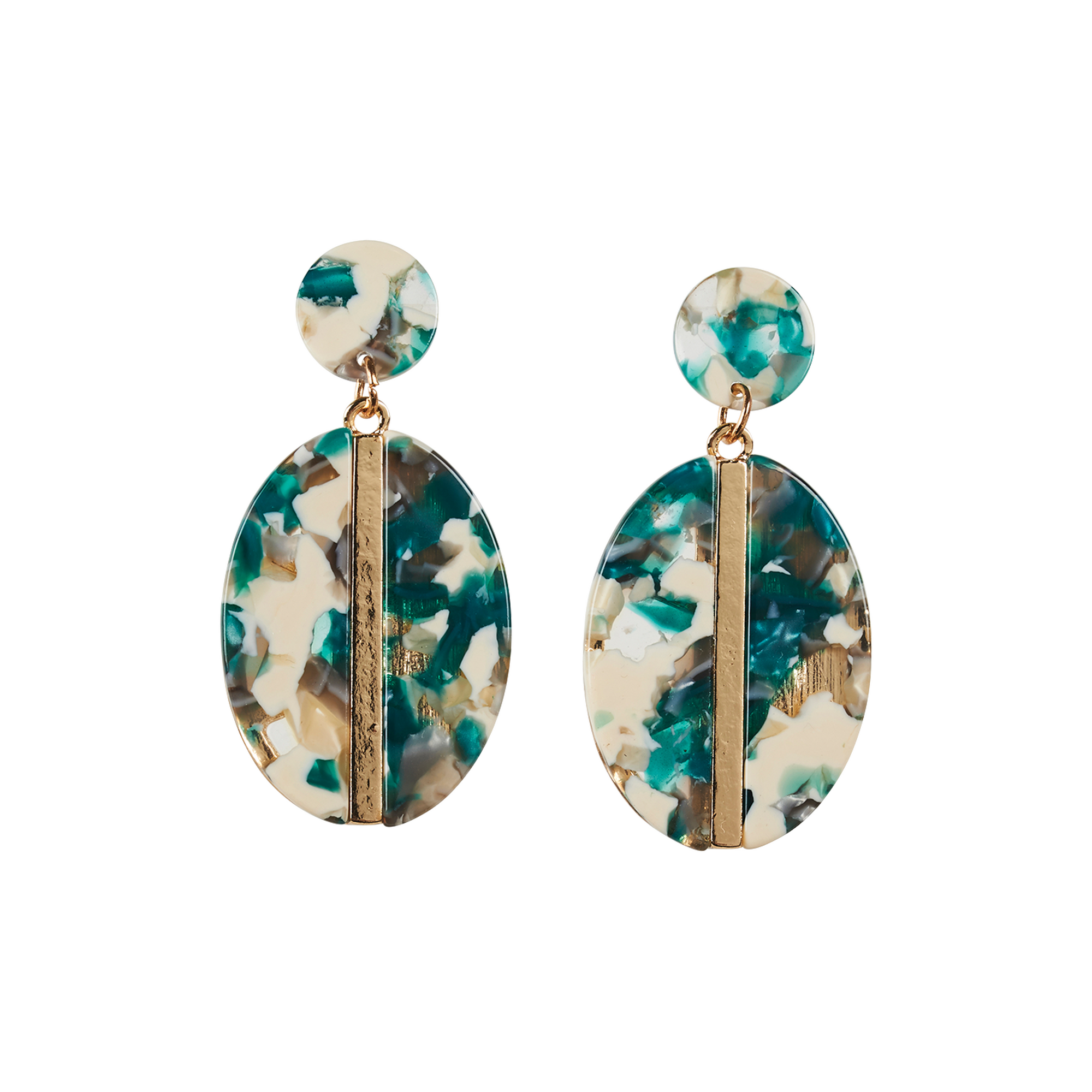 eb&ive Zena Oval Earrings in Jadestone