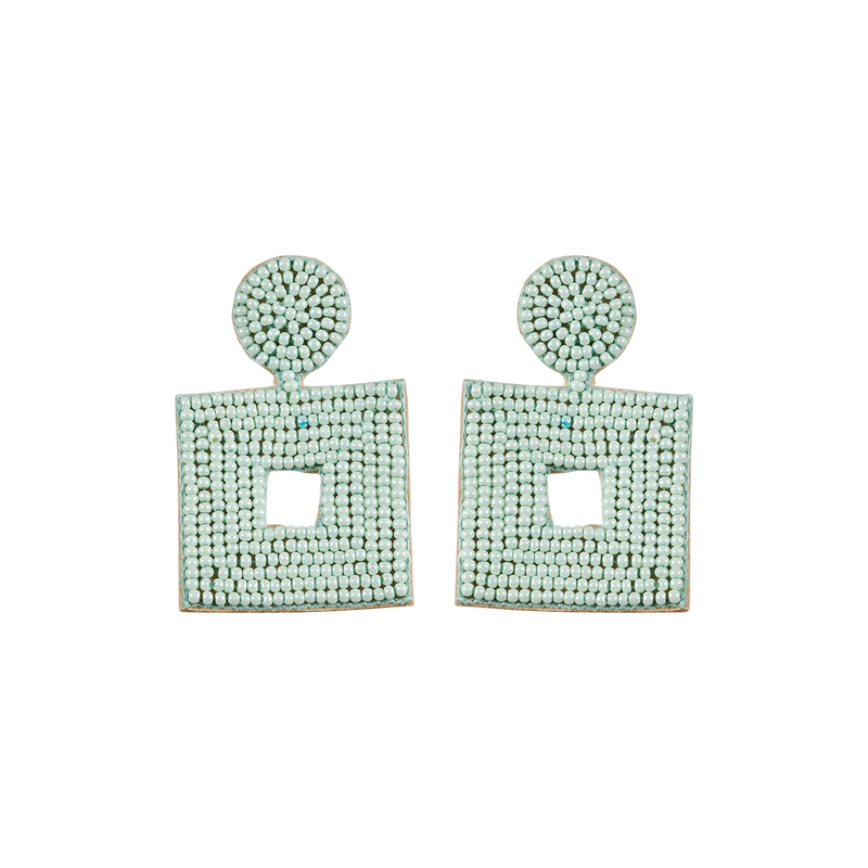 eb&ive Society Stone Bead Earrings in Mint