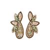 eb&ive Society Stone Bead Earrings in Copper Mint