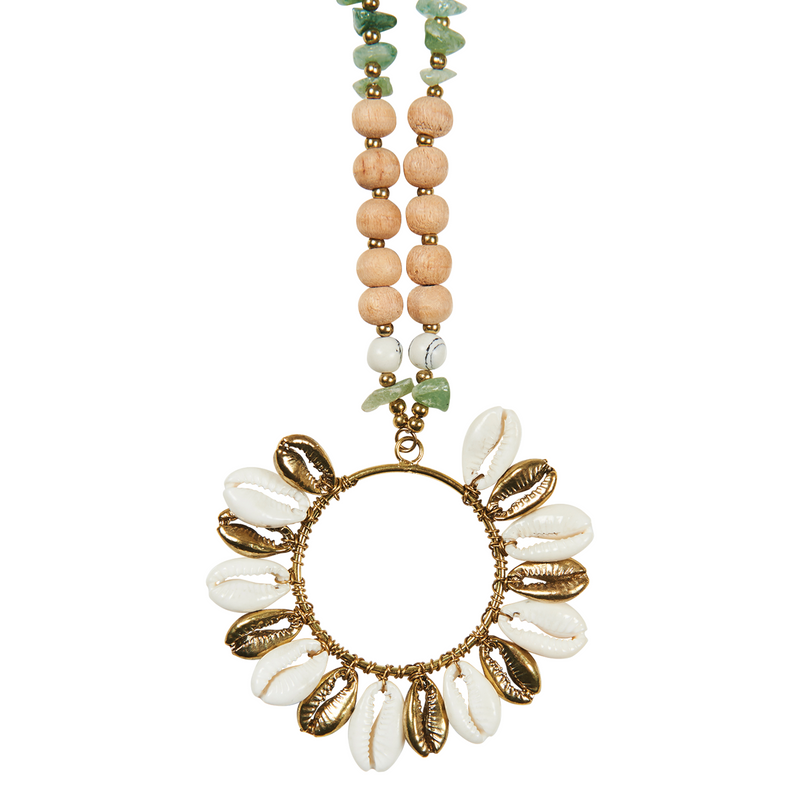 eb&ive Native Necklace in Brass Stone
