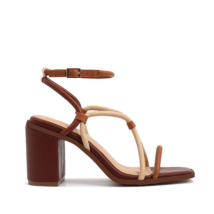 Nude Footwear Sienna Brown Combo Sandals