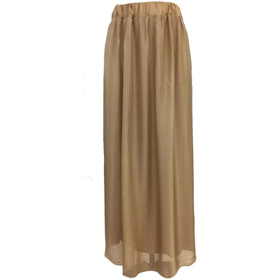 DonnaDonna Noir Silk long skirt