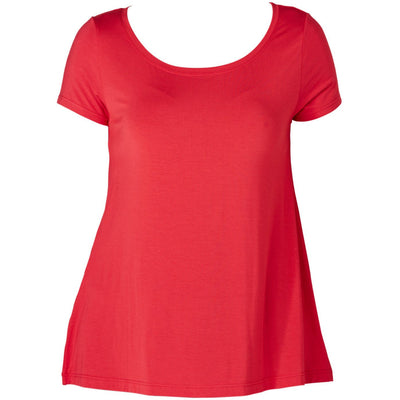 Tani Swing Short Sleeve Tee Top Plain Colours