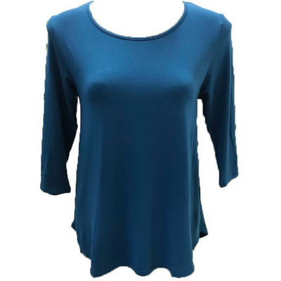 Tani 3/4 Sleeve Relax Tee Top in Plain colours