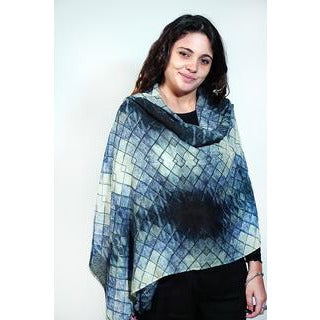 Tradition Textiles 100% Merino Wool Ikat Diamonds Scarf