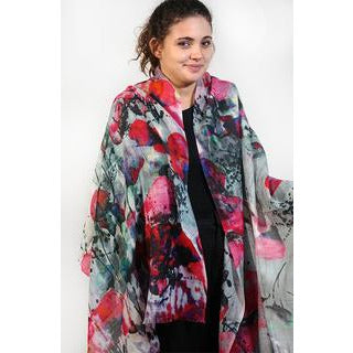 Tradition Textiles 100% Merino Wool Rose Petals Scarf