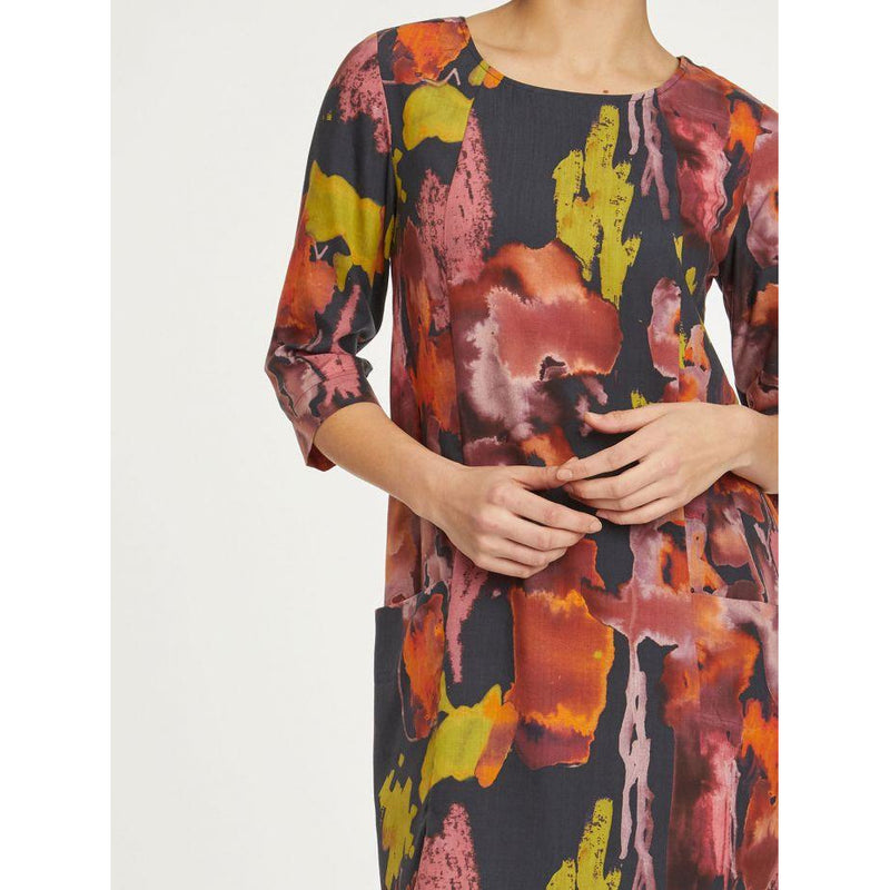 Thought Kala Dress in Midnight Navy Print