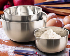 3 Pieces Stainless Steel Mixing Bowl Set|3件式高級不銹鋼量碗套裝