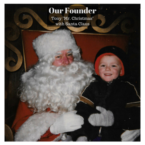 Our Founder with Santa Clause Elite Holiday Decor