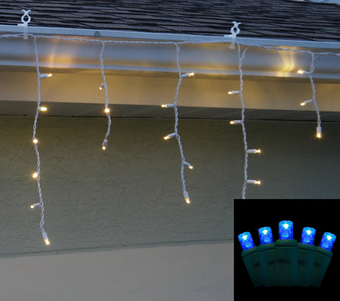 Icicle Lights 5mm Blue LED 70 bulb
