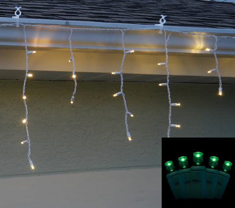 Icicle Lights 5mm Green LED 70 bulb