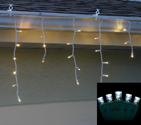 Icicle Lights 5mm Pure White LED 70 bulb