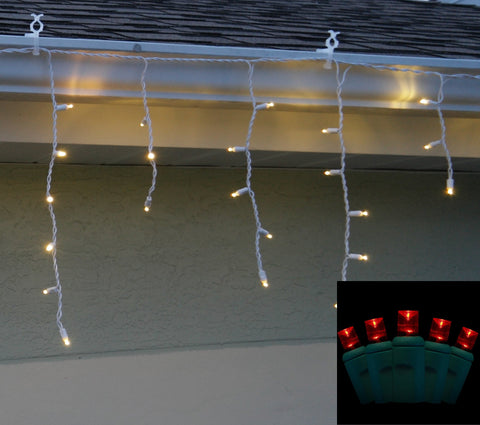 Icicle Lights 5mm Red LED 70 bulb