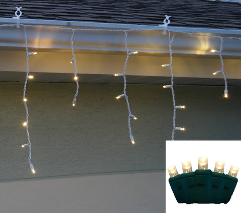 Icicle Lights 5mm Warm White LED 70 bulb
