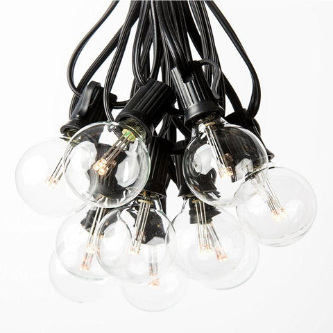 G40 LED Patio Lights Black Wire 25ct.