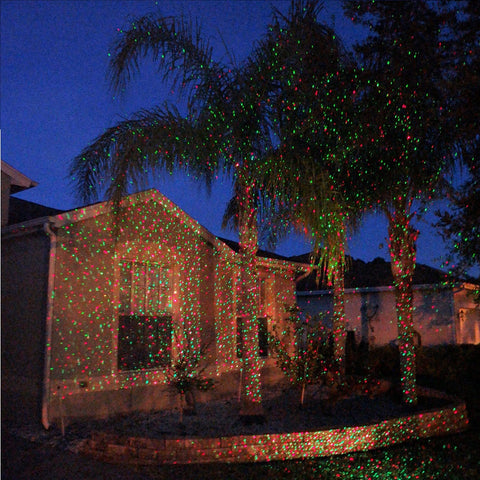 laser christmas light red green elite holiday decor