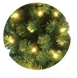 "48"" Premium Oregon Fir Wreath - Lit with LED warm white lights"