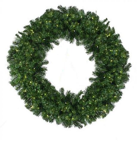 Oregon fir LED 5mm lit wreath warm white