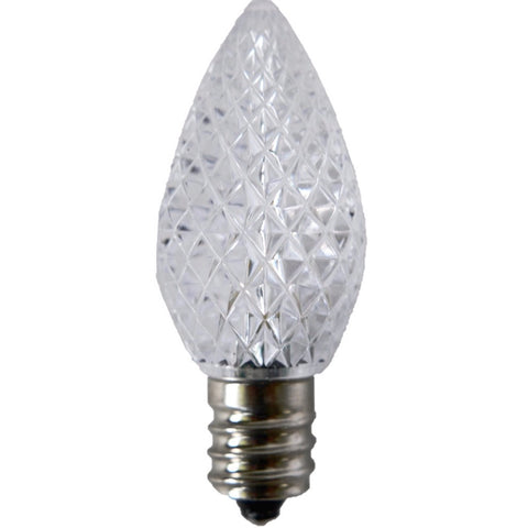Pure White C7 LED Christmas Light Bulb Elite Holiday Decor