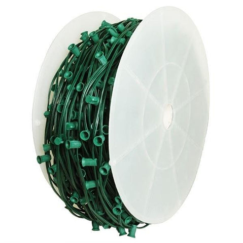 C9 Socket Spool 15 inch spacing / 1,000ft / green wire / SPT-1