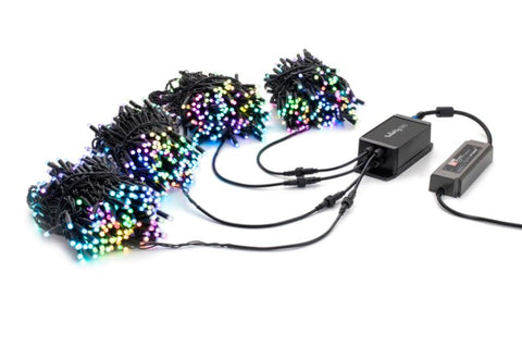 "Twinkly Pro - RGB Capsule - 250 Light String - 4"" Spacing - Green Wire"