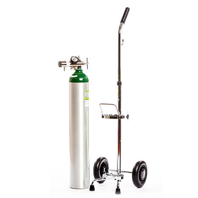 Pre Filled Oxygen E-Cylinder with Cart