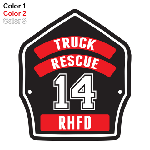 FD Helmet Shield Sticker (Three Color) Style 2