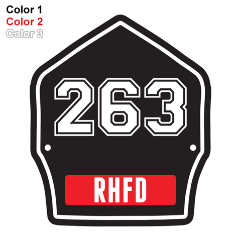 FD Helmet Shield Sticker (Three Color) Style 4