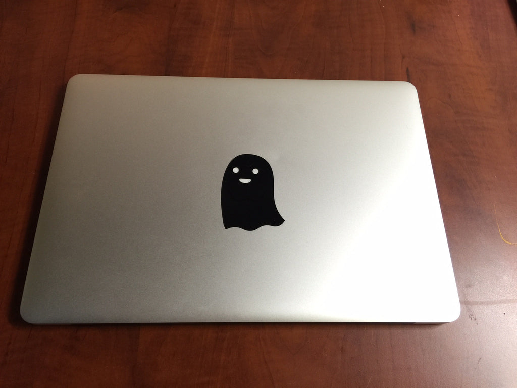 Ghost Laptop MacBook Vinyl Sticker