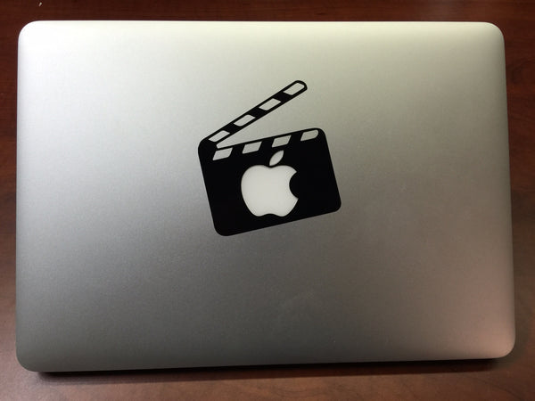 Lights, Camera, Action Clapperboard MacBook Laptop Vinyl Decal