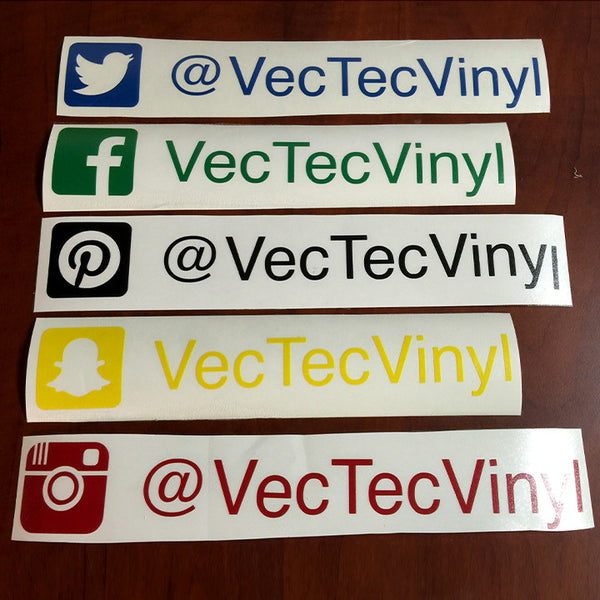 WeChat Custom Name Vinyl Car Sticker