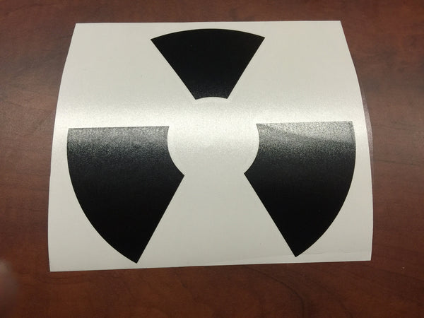 Nuclear Radioactive Symbol MacBook Laptop Decal
