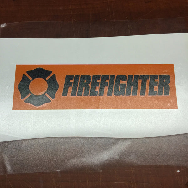 Firefighter Window Sign